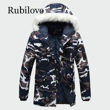 Rubilove 2019 Winter Mens Coats Warm Thick Male Jackets Padded Casual Hooded Parkas Men Overcoats Brand Clothing S-5XL