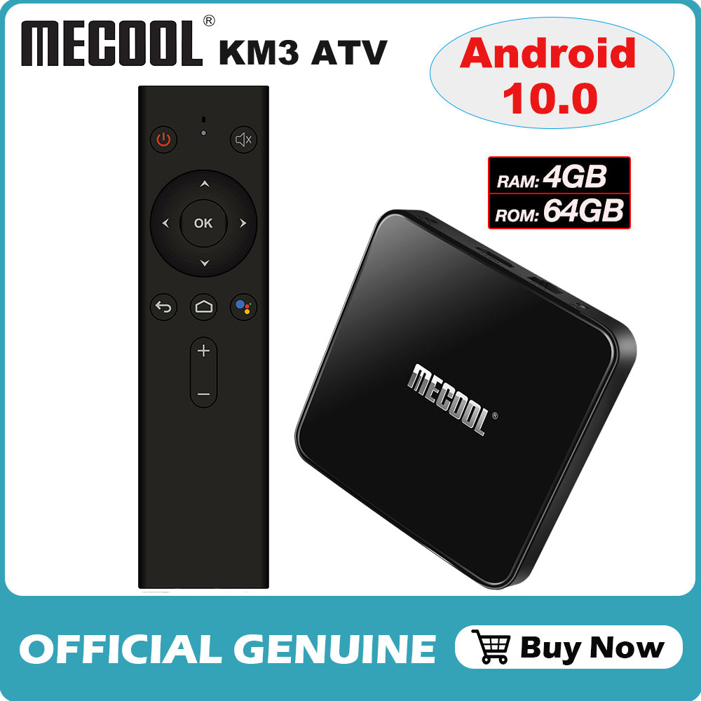 Android 10 0 Amlogic S905X2 Voice Control Smart TV Box Quad Core 4GB 64GB Set Top Box 2 4G  amp  5G Wifi 4K Media Player Mecool KM3