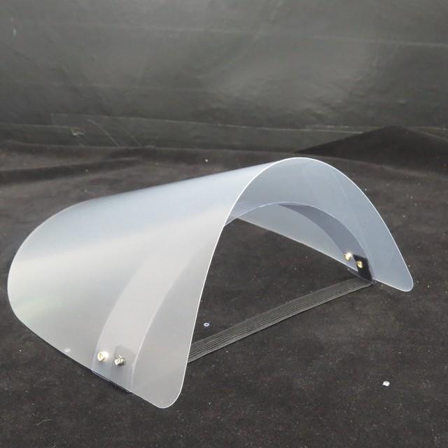 Anti-fog artifact protective cap PET Transparent Safety Hat Face Shield Anti-Saliva Virus Dustproof Flip-up Face Protection Mask 4
