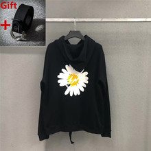 Peaceminusone Sun Flower Hoodies GD Daisy Print  Sweatshirts Men Women Oversize Hoodie Lightning