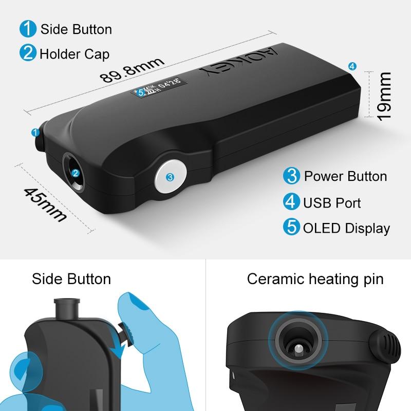 Image 3 - Новый дизайн iqo сигаретное нагревательное устройство, aokey IX  керамическая шпилька для нагревания IQO S Heets технология Тепловая  электронная сигаретаНаборы электронных сигарет