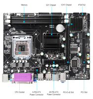 Top quality gaming G31 LGA775 LGA771 motherboard with dual Channels DDR2 ram Integrated Graphics pf main board