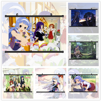Kannagi Crazy Shrine Maidens Nagi Zange Aoba Anime Manga HD Print Wall Poster Scroll image