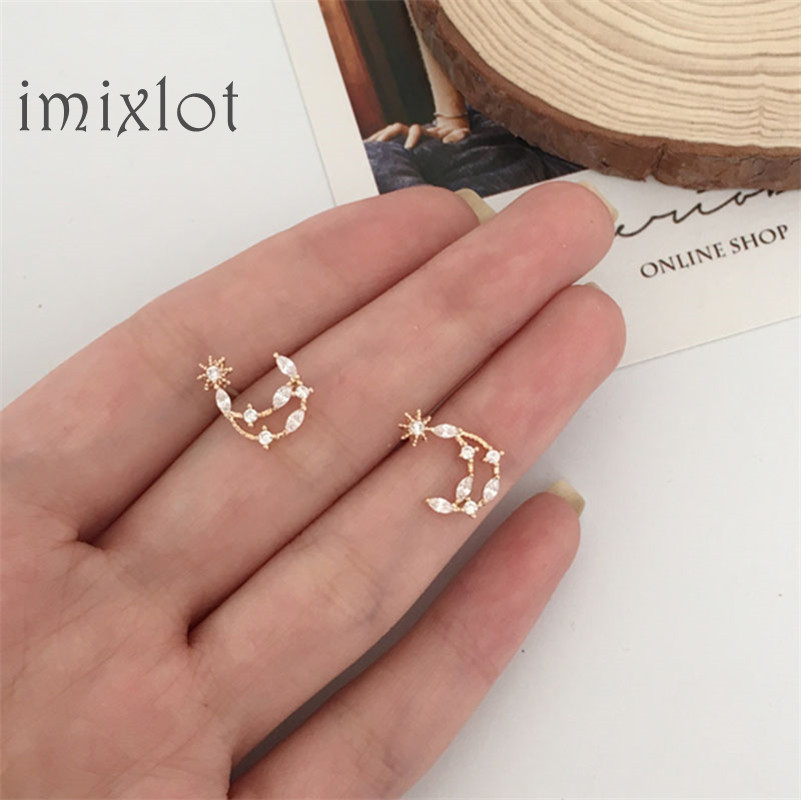 New Design Brand Hollow Star Month Small Earrings Simple Earrings For Women