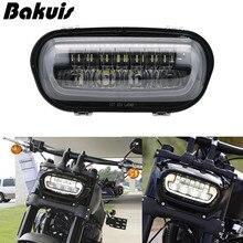 "9"" LED Headlights high low beam for 2018 2019 Fat Bob Motorcycle Headlamp 5"" Fat Bob Projector LED Headlights 9.8inch"