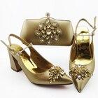 gold women shoes hee...