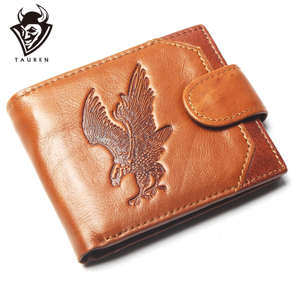 New Coin Purse Cheap Mens Eagle Embossing Wallet Genuine Leather Coin Purse For Men Card Holder Strong Wallet