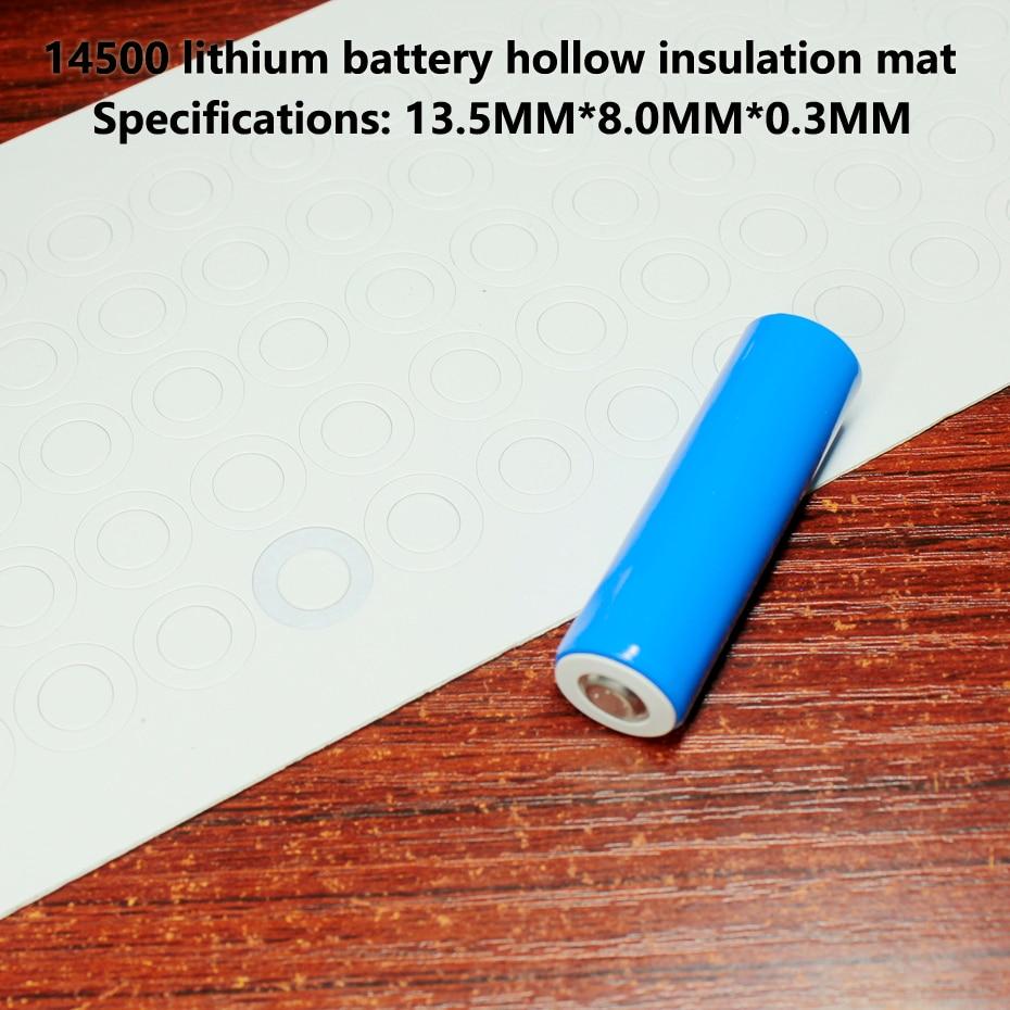 Купить с кэшбэком 100pcs 14500 lithium battery negative solid insulating mat surface cushion meson 5 battery, highland barley paper surface mat
