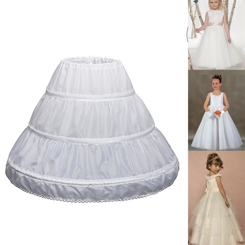 1 Pcs Children Kids Girl Petticoat Pannier Skirt 3 Hoops For Wedding Dress Party TC21