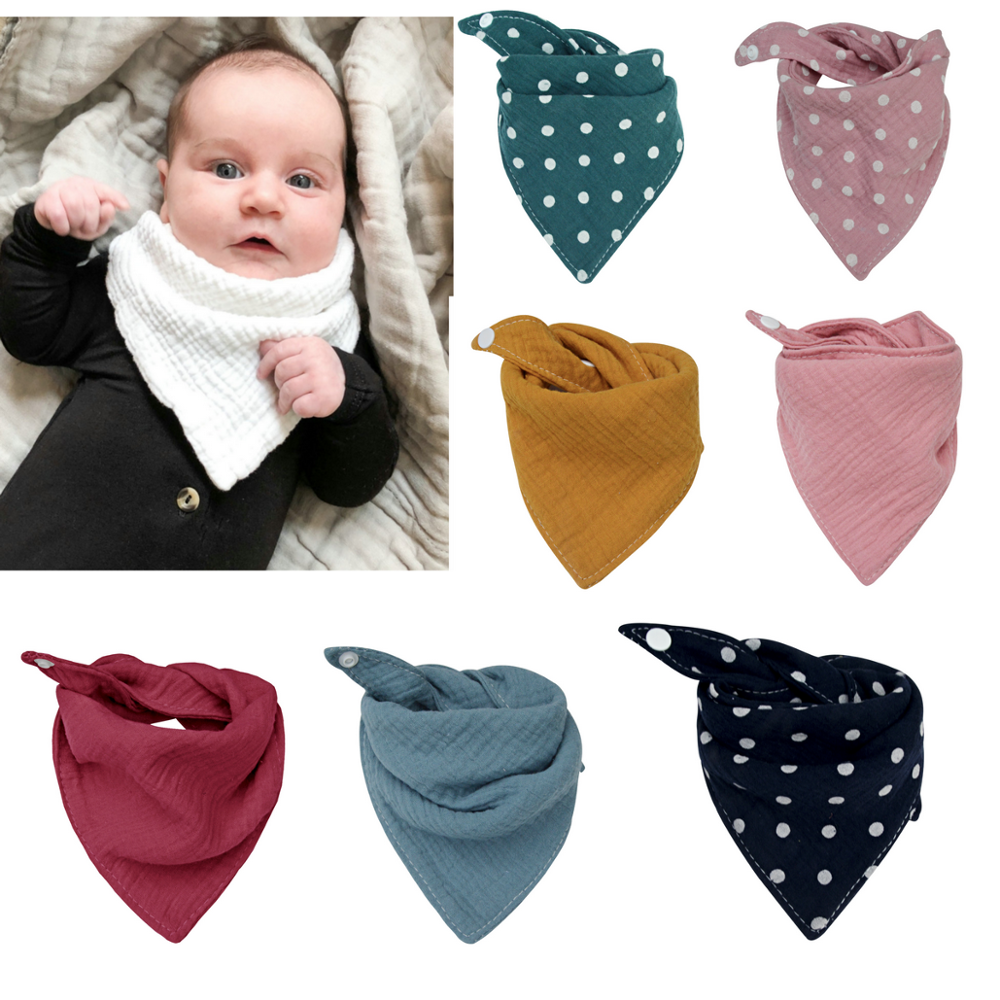 Unsiex Baby Toddler Triangle Cotton Drool Bibs Bandana Scarf Soft Towel CB