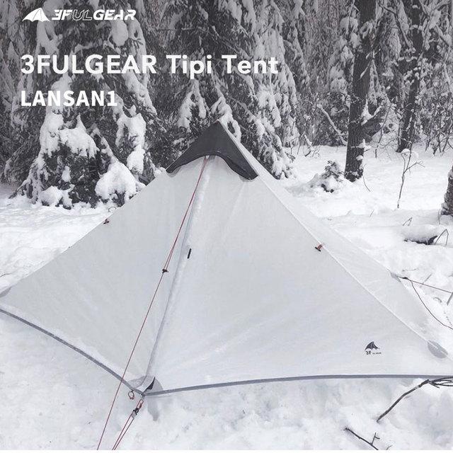 3F UL GEAR Lanshan 1 Ultralight Camping 3 Season 15D Tent 4
