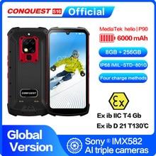 """CONQUEST S16 /S16 ATEX IP68 Водонепроницаемый прочный смартфон мобильный телефон 6,3 """"Дисплей 8 Гб 256 48MP Android смартфон сотовый телефон"""