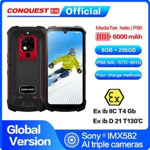 "Image 1 - כיבוש S16 /S16 ATEX IP68 עמיד למים מחוספס חכם נייד טלפון 6.3 ""תצוגת 8GB 256GB 48MP אנדרואיד smartphone טלפון סלולרי"