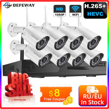 Cctv-Security-Camera System Wifi Video Surveillance Wireless Nvr Nvr-Kits 1080P 8CH H.265