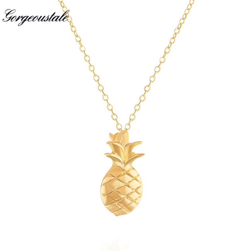 New Fashion Collares Sweet Korean Version Fruit Pineapple Pendant Necklace For Women Jewelry Chain Clavicle Collier