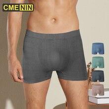 CMENIN Seamless Men Underwear Boxer Free Plus Size For Fat Guy Cueca Male Pantie Nylon Comfortable Mesh Breathable Boxers CM012
