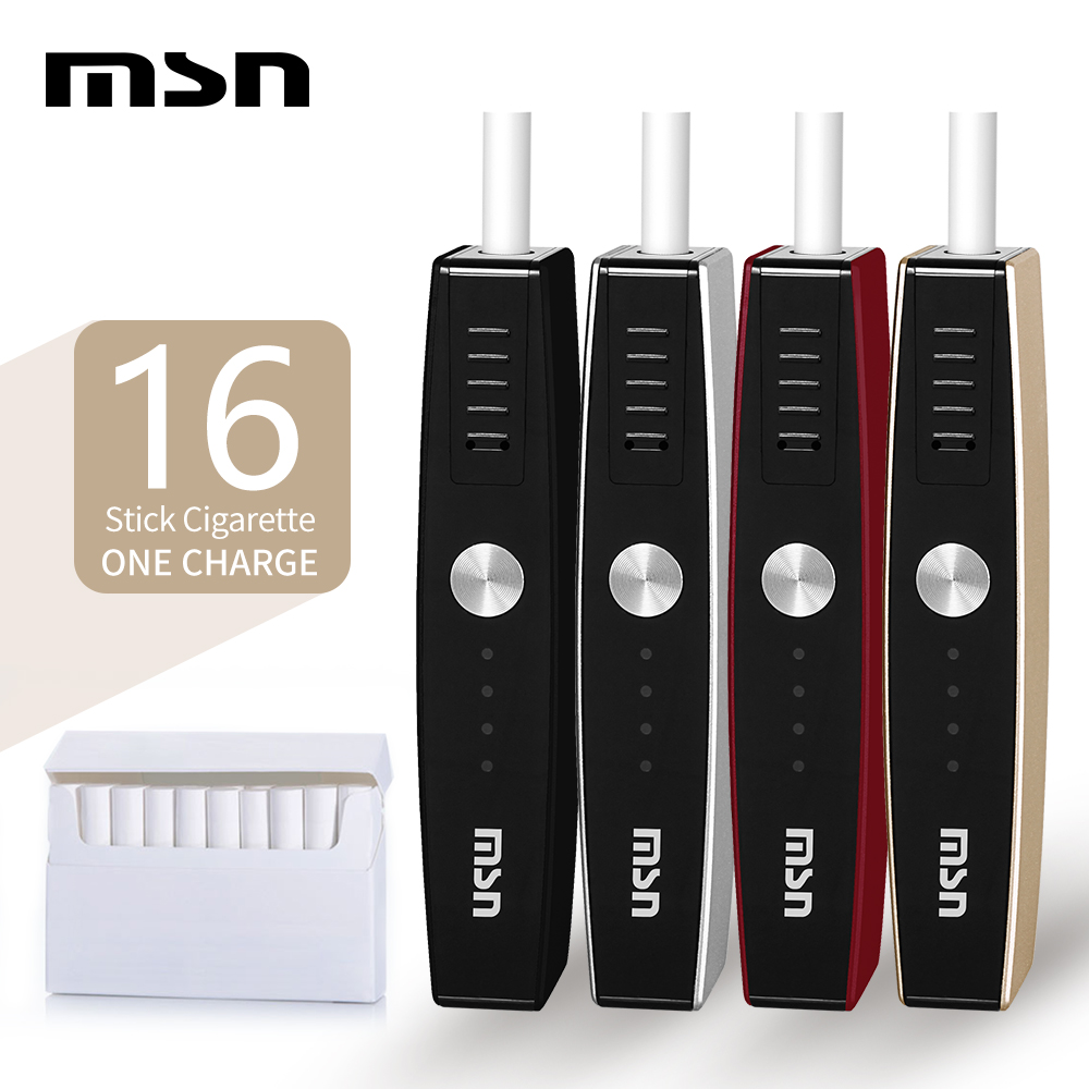 MSN M1 Heat Not Burn Electronic Cigarette Kit Compatible With Most Stick 900mAh Vape Vaporizer Kits Device E-cig Mod