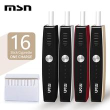 MSN M1 Heat Not Burn zestaw do papierosów elektronicznych kompatybilny z większością stick 900mAh vape parownik zestawy urządzenie e-cig mod tanie tanio Z Baterią Kształt skrzynki 18650 Derlin csvk 2 4 plus for IQOS and HEETS 1300 mAh Wbudowany 5min 1-2h 15 5*8*5cm heat not burn cigarette
