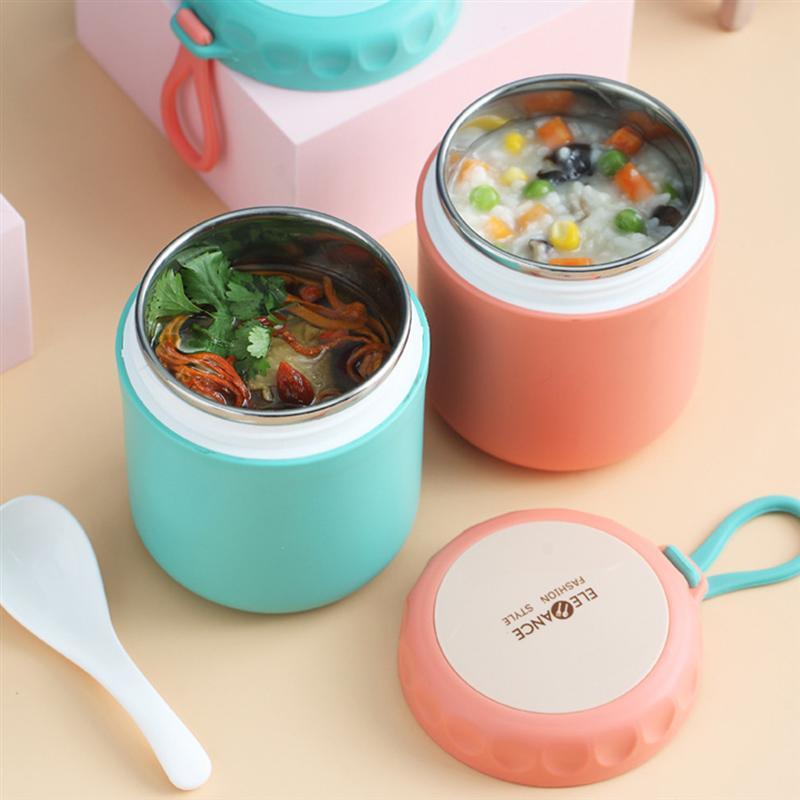 Изолированный Ланч бокс из нержавеющей стали, суп держатель, портативный контейнер для еды для пикника, школы, офиса, ручной суп чашка, термос|Коробки для обеда|   | АлиЭкспресс