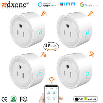 Mini US Wifi Plug Smart Timing Socket Wireless Outlet Voice Control Smart Socket Work with Alexa Google Home Tuya APP цена 2017
