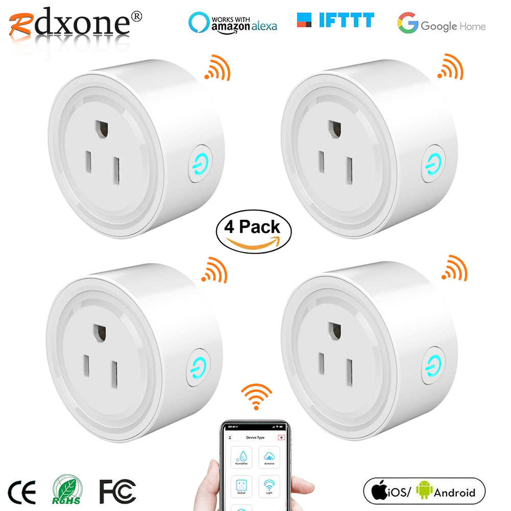 Smart Plug Rdxone Mini WiFi Outlet Works with Alexa Google Home   Only Supports 2 4GHz Network