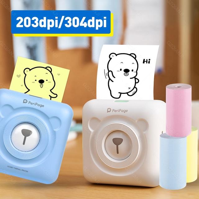 Портативный термальный Bluetooth принтер 58 мм мини беспроводной POS фото принтер Android iOS мобильный телефон печать Peripage A6