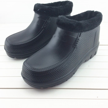 Waterproof Shoes Thick Man Non-slip Lightweight Woman EVA Integrated Garden Kitchen Warm Foam Rain Boots Labor Protection Shoes