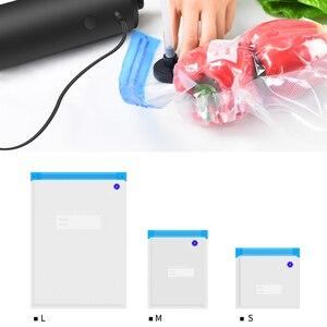 Image 3 - Novo útil mini bomba de vácuo automática saco de armazenamento de viagem bomba de vácuo alimentos frutas fresco mantendo máquina de vedação do agregado familiar