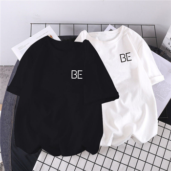2020 new album BE print Harajuku T-shirt Kpop Korean style short sleeve cute Korean casual hip-hop short sleeve top 1