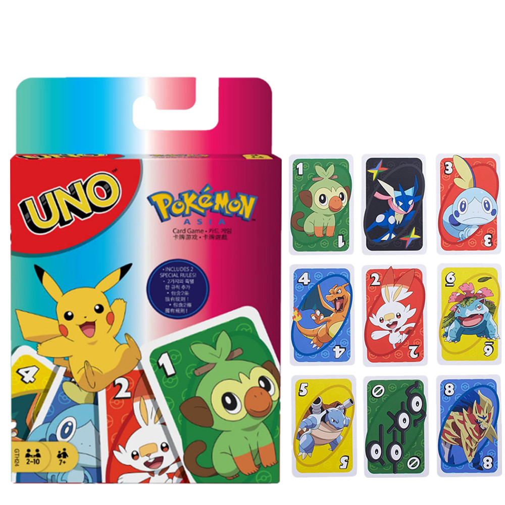 Mattel Games UNO Pokemon Sword Shield Card Game Family Board Game Fun Playing Cards Gift