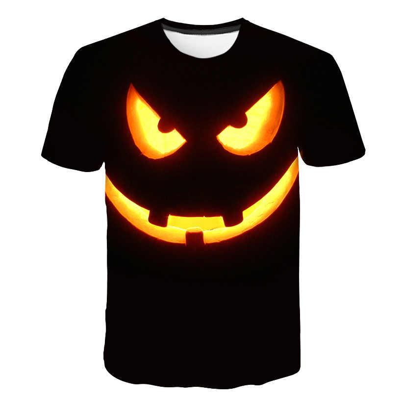 2019 мужские футболки 3D череп Тыква Джокер футболки повседневные Хэллоуин мужские/wo мужские футболки