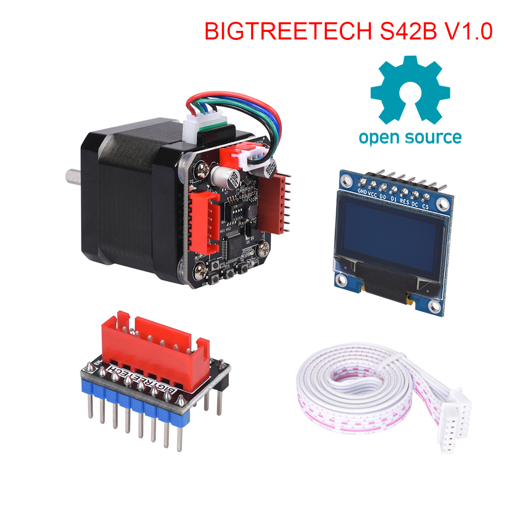 BIGTREETECH S42B V1.0 42 Stepper Motor Closed Loop Driver Board With OLED Display 3D Printer Parts VS TMC2208 For 3D Printer