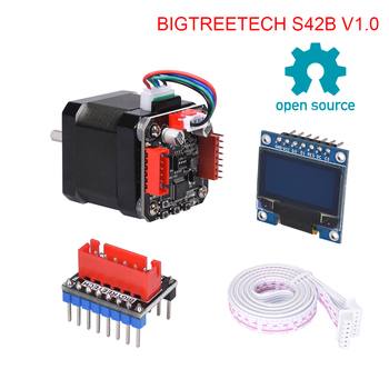 BIGTREETECH S42B V1.0 42 Stepper Motor Closed Loop Driver Board with OLED Display 3D Printer Parts VS TMC2208 For 3D Printer v2 3d printer driver expansion board for arduino red