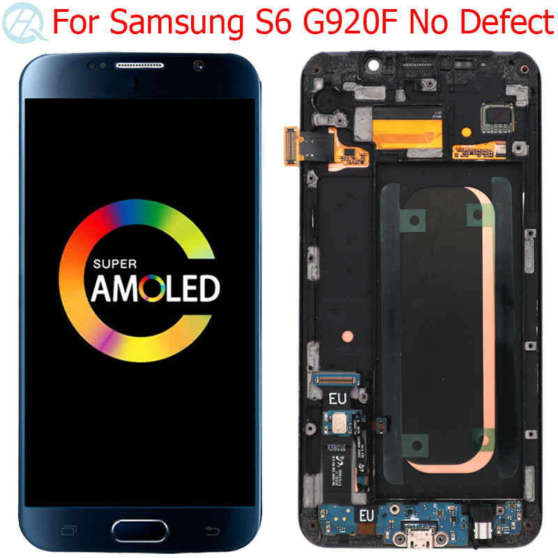 Original Super AMOLED LCD For Samsung Galaxy S6 Display With Frame 5.1
