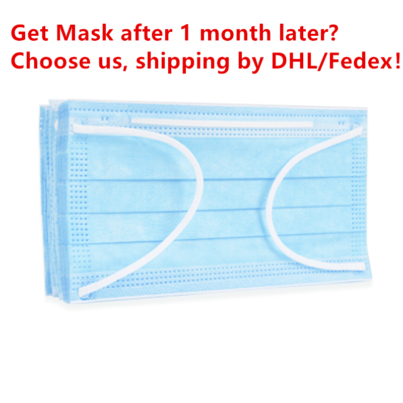 35pcs/pack Non Woven Disposable Dustproof Masks Anti-virus Ear Loop Face Surgical Masks For Prevent Bacteria Protective Cover