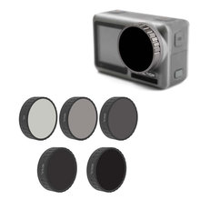 Osmo Action ND Lens Filters CPL,ND-PL4,ND-PL8,ND-PL16, ND-PL32 Kit Compatible with DJI Osmo Action Camera Accessories Set