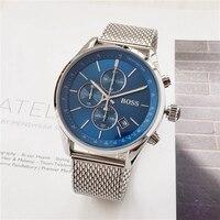 2019 часы Boss Роскошные мужские часы Кварцевый секундомер все функции все указатели работа boss водонепроницаемые мужские Хронограф