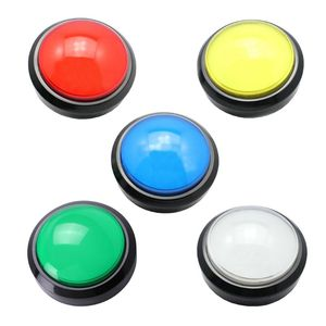 100mm Big Round Push Button LED Illuminated with Microswitch for DIY Arcade Game Machine Parts DC12V Large Dome Light Switch