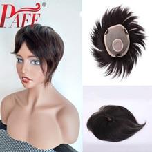PAFF европейские натуральные волосы парик для женщин кружева с NPU сменная система с шелковой основой головы вращения использовать зажимы или клей