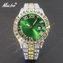 MISSFOX Hip Hop Lover Watches For Men Or Women Big Dial Watch Luxury Diamond Quartz Mens Waterproof Wristwatch Dropshipping 2021