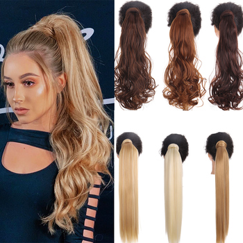 MUMUPI synthetic kinky curly afro long ponytails hair extension extention  ponytail hair clip in hair pony tail hair extensions elegant long synthetic stylish long shaggy curly clip in hair extension for women