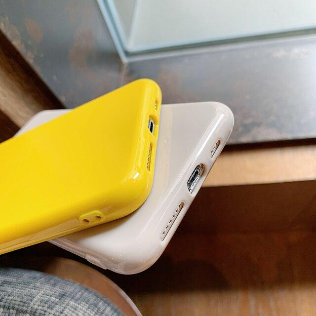 Lovebay Couleur Fluorescente Pour iPhone 11 Pro Max 6 6s 7 8 Plus X XR XS Max Soft TPU Pure Couleur Unie Couverture Arrière