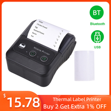 Label Printer Impresora Bluetooth Portable Termica Wireless Store for 2in Bt-58mm