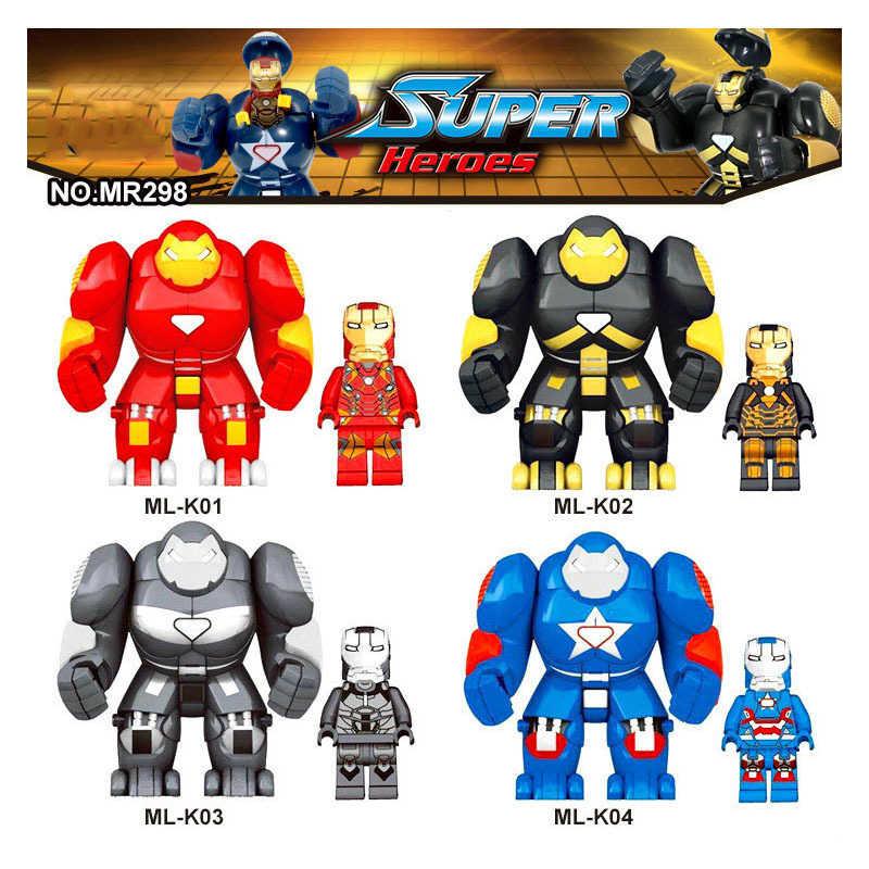 Marvel superbohaterowie figurki Iron Man Thanos Hulk Batman Venom Wolverine czarna pantera Avengers Endgame klocki dla dzieci zabawki
