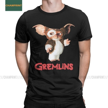 Men's T-Shirt Gremlins Gizmo Cotton Tee Shirt Short Sleeve 80s Movie Mogwai Monster T Round Neck Tops Plus Size - discount item  40% OFF Tops & Tees