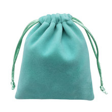 100pcs High quality velvet jewelry drawstring dust bag pouch for accessories