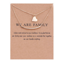 New Gold Heart Necklace Double Layers Heart Necklaces Vintage Jewelry Pendant Necklace For Women Mother's Day Gift Jewelry цена