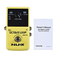 NUX OCTAVE LOOP Guitar Loop Pedal Looper 5 Minutes Recording Time with Built in 1 Octave Effect
