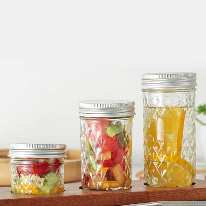 CW/_ BL/_ Wide Round Clear Food Storage Container Sealed Jar Box with Lid Kitchen