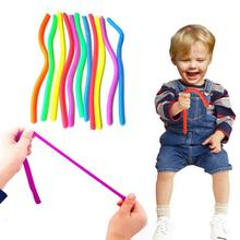Elastic TPR Straight Pulling Rope Stretchable Pull String Rope Toy for Relieve Reduce Pressure Vent Toys Creative Multifunction